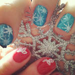 Holiday Manicures - Mom and Me