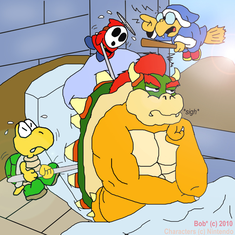 Bowser's sleeping disorder by buffalobobby