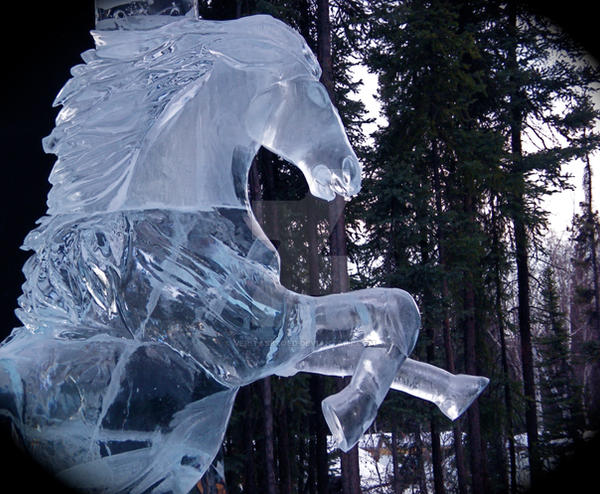 Photo Collection Ice Horse Wallpaper