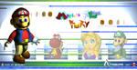 Mario's Feline fury wallpaper by Blueburn67