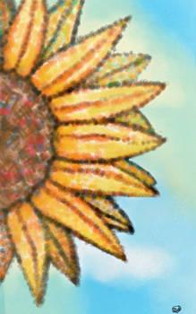 sunflower I did in art class