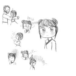 Anya Liang MK OC drawing (Kuai Liang daughter)