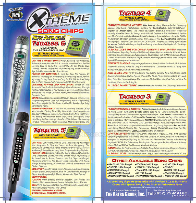 Xtreme Magic Sing Tagalog Song Chips Flyer 01 by racsalcedo on