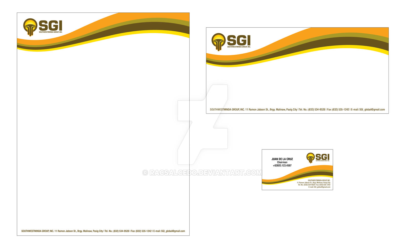 SGI Letterhead, Envelope, Business Card by racsalcedo on DeviantArt