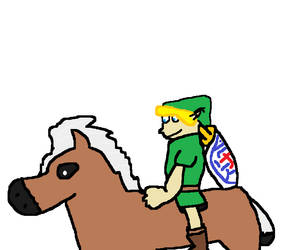 Young Link And Epona!