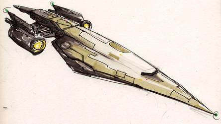 Space ship by Fendorin