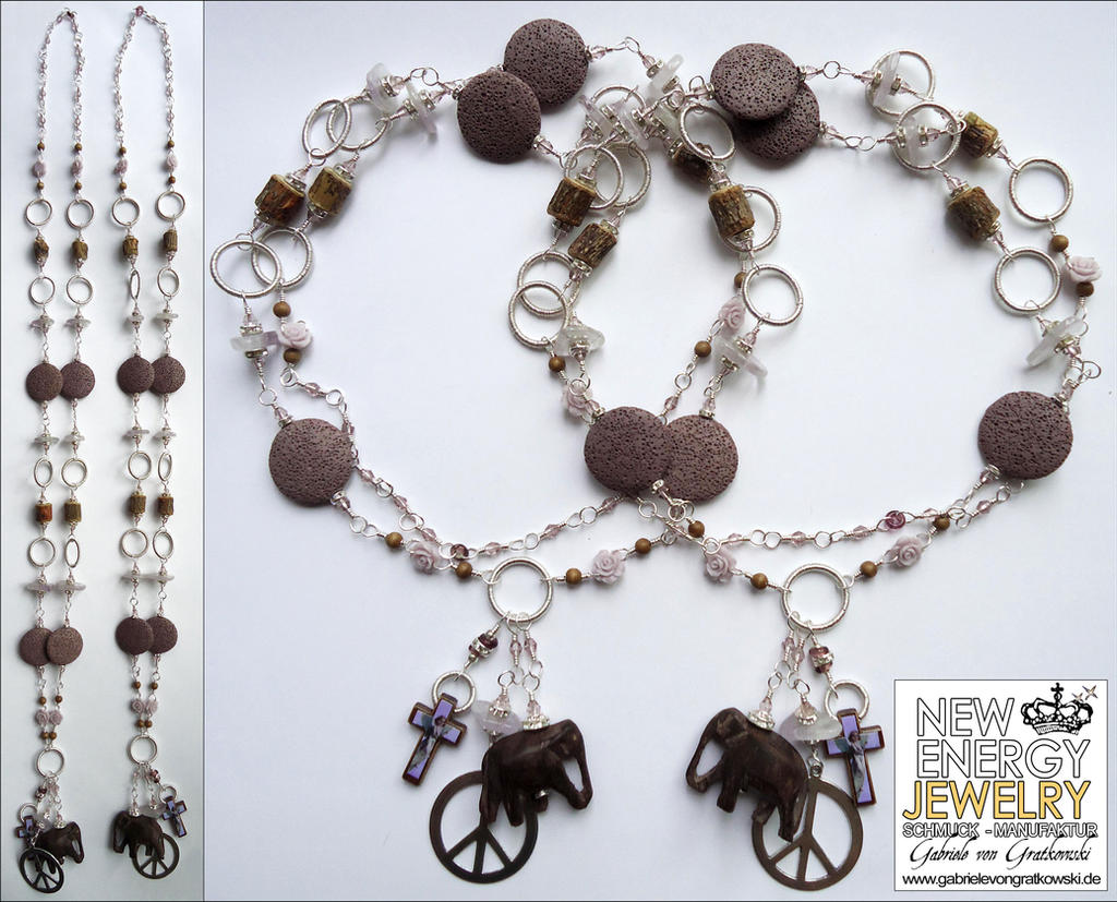 HIGH ENERGY CRYSTAL ROSE GARDEN energy necklace by NEWENERGYJEWELRY
