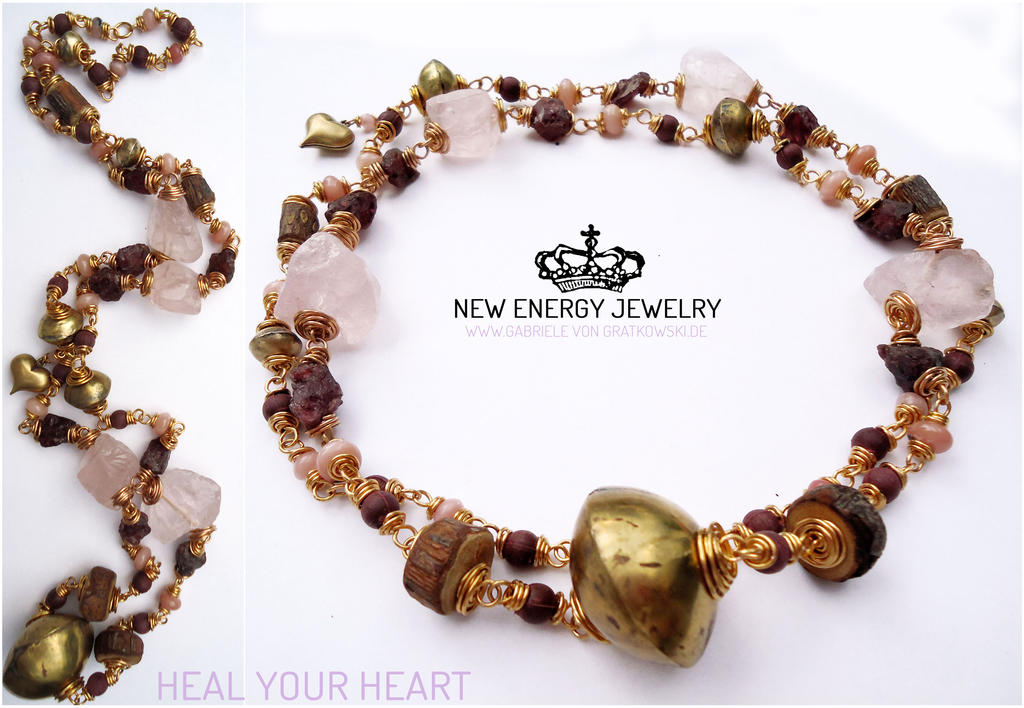 HEAL YOUR HEART crystal energy necklace by NEWENERGYJEWELRY