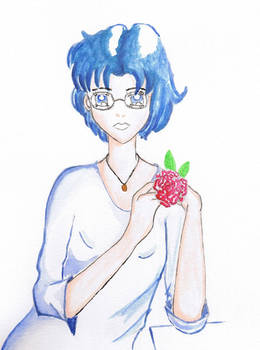 Ami with a rose
