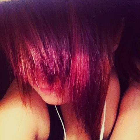 purple dye on brown hair without bleach dark brown hairs