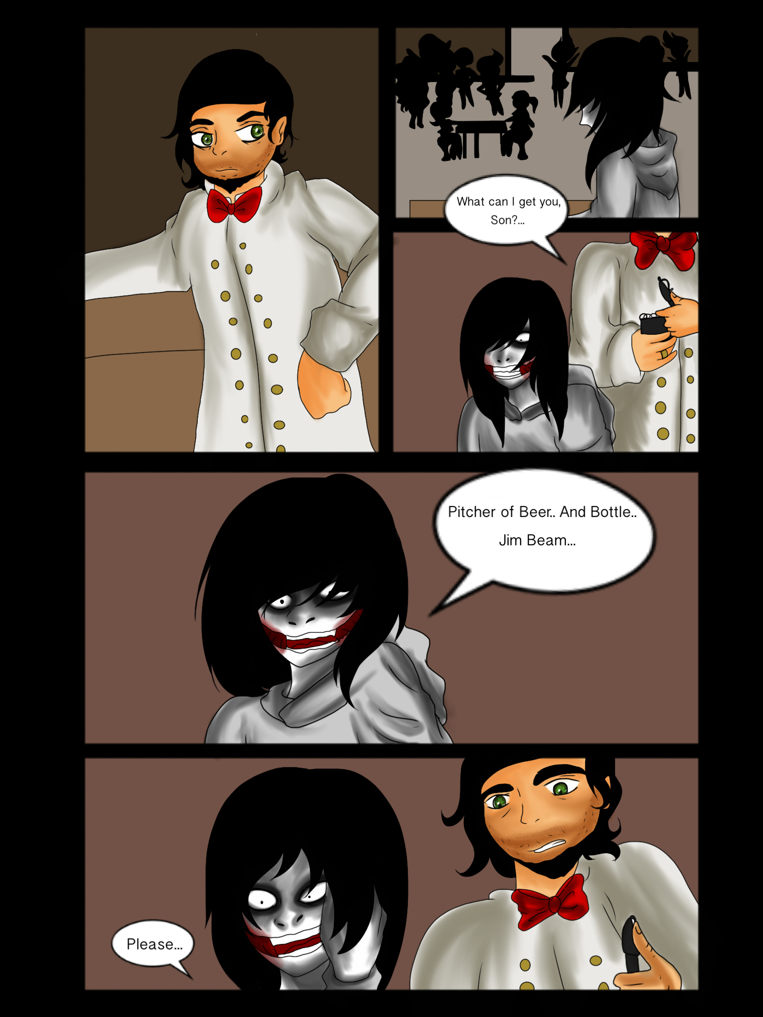 Jeff vs Jane The Killer page 30 by Helen-RubiTH on DeviantArt