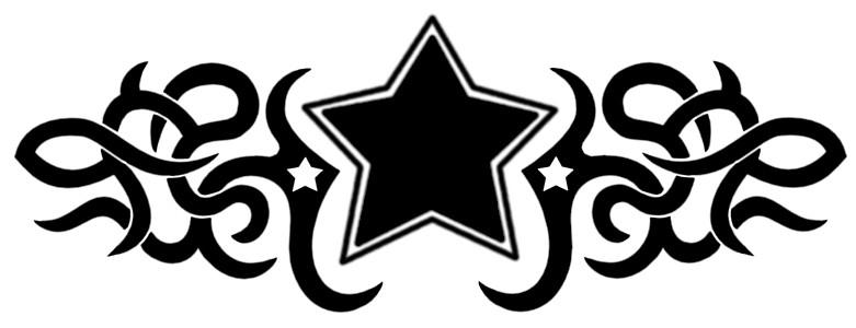 Tribal Star Tattoo by Lisamahphone