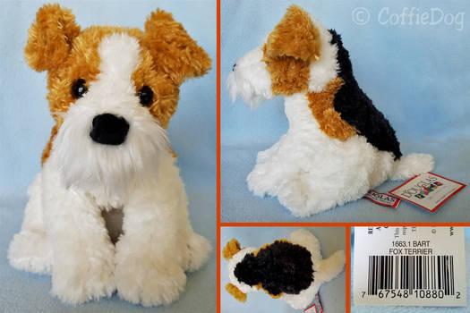 Douglas Bart Fox Terrier plush (sitting version)