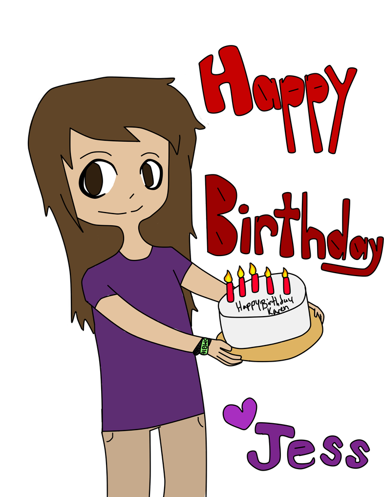 birthday card for my aunt by gengarchimmy on deviantart, Birthday card