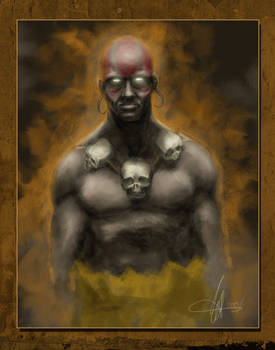 Dhalsim Painted