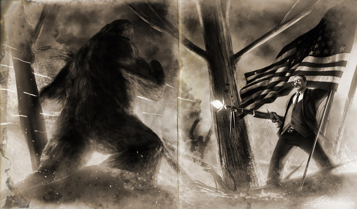 Teddy VS. Bigfoot Old version by SharpWriter