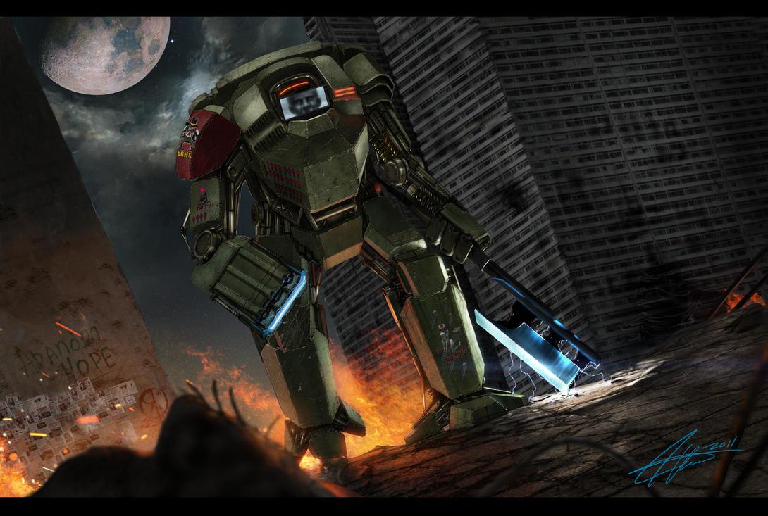Robo Mech Badass Concept by SharpWriter