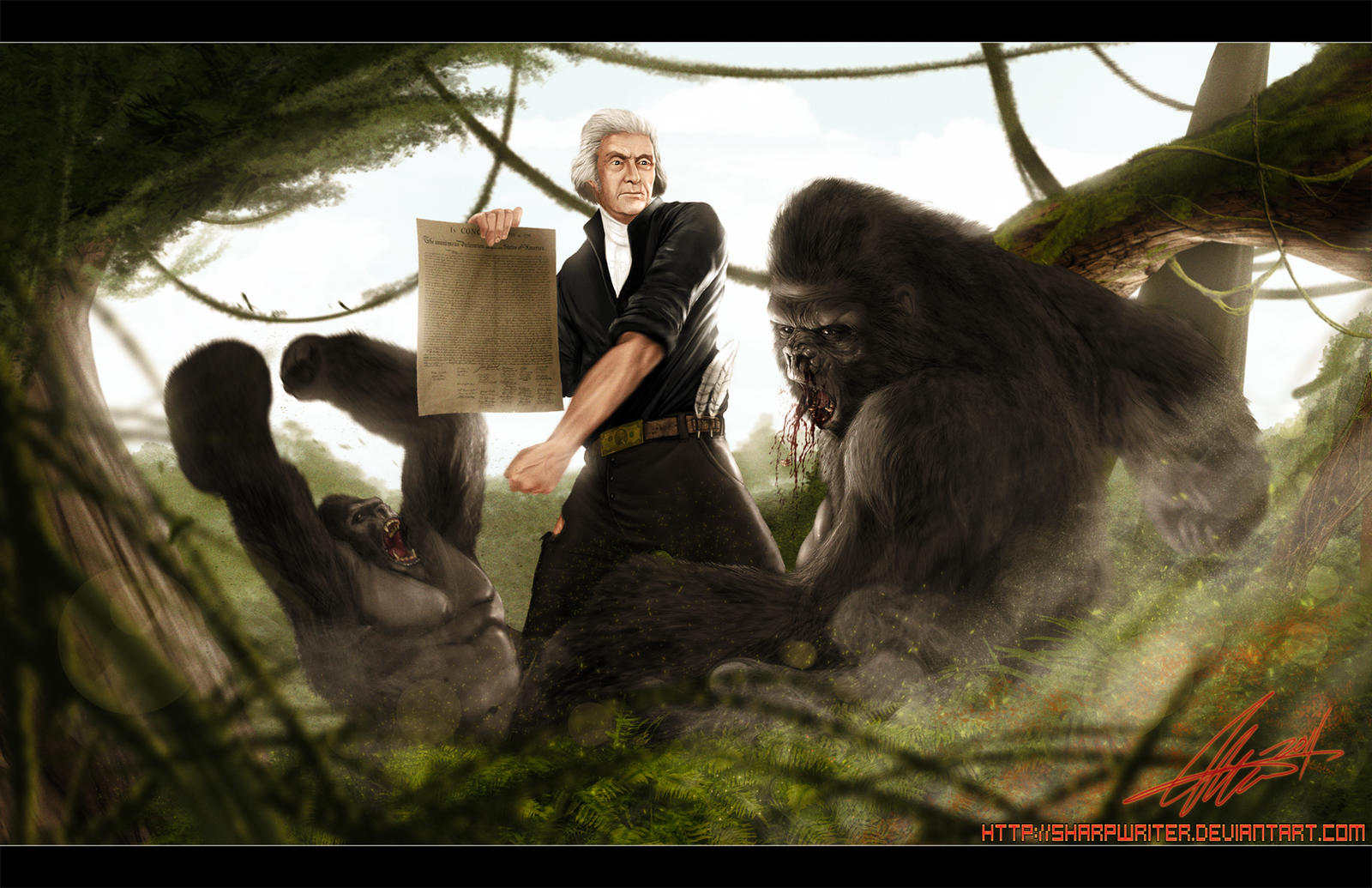 Thomas Jefferson Vs Gorilla