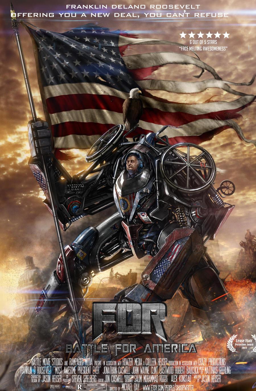 FDR Battle for America Poster by SharpWriter