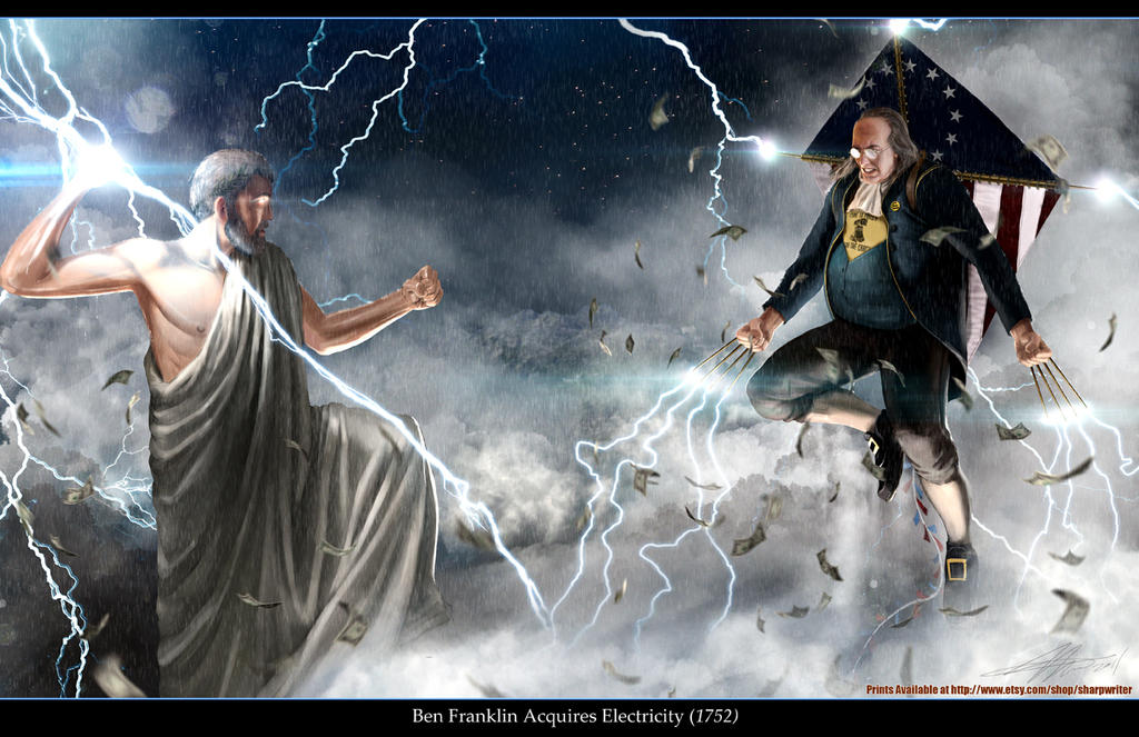Ben Franklin VS. Zeus by SharpWriter
