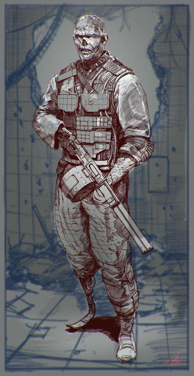 Bad Guy Line art by SharpWriter