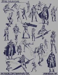 Final Fantasy Pose Explorations