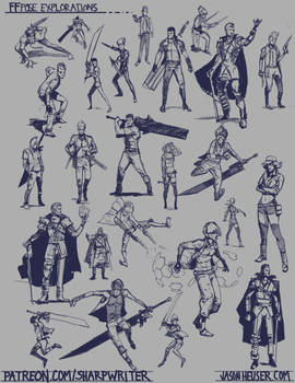 Final Fantasy Pose Explorations