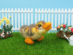 Needle felted duckling