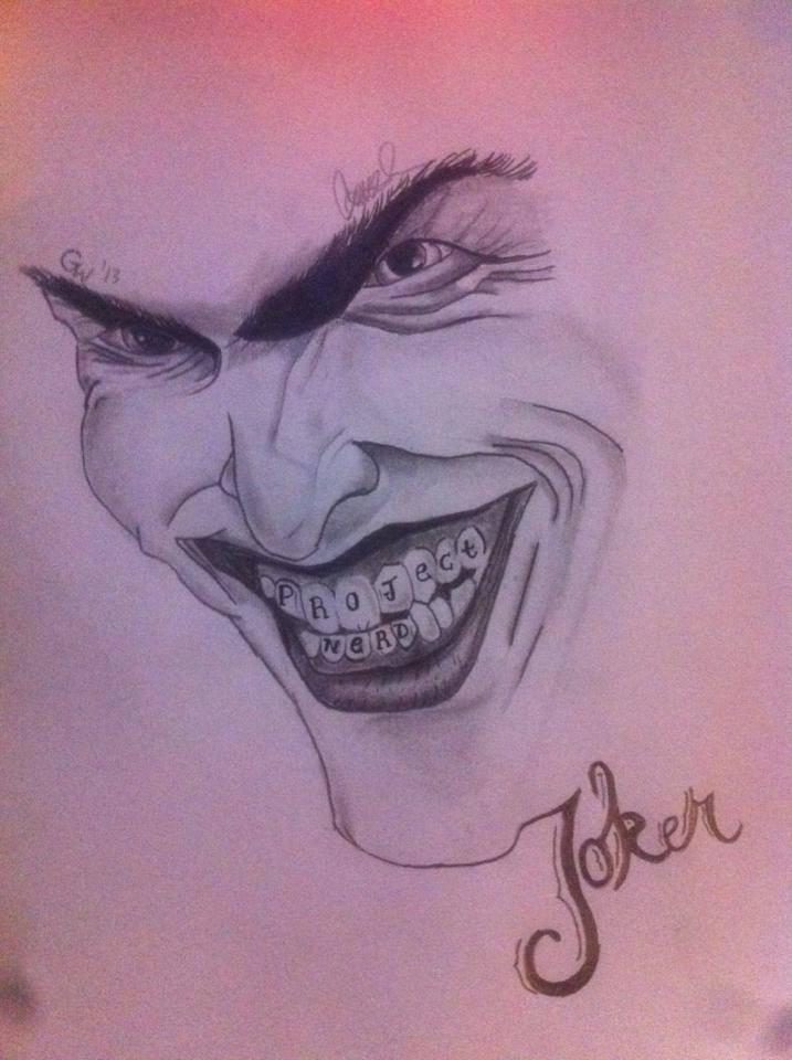 Joker From Batman Pencil On Sketch Paper. By GarrettFrankenstein On DeviantArt