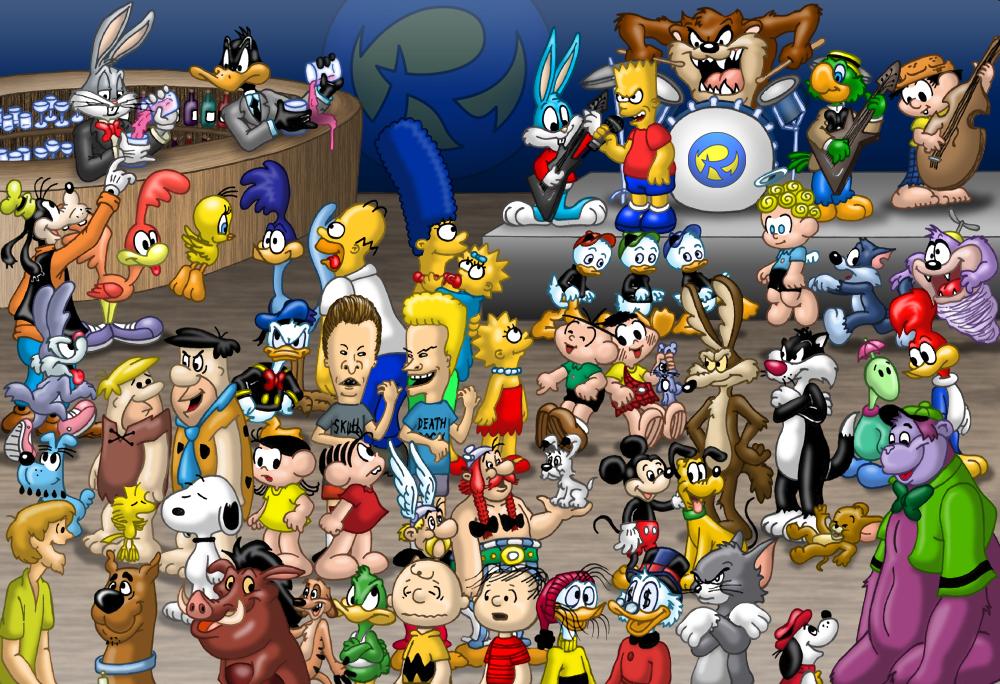 Cartoon Characters Birthdays : Cartoons party by rogferraz on deviantart