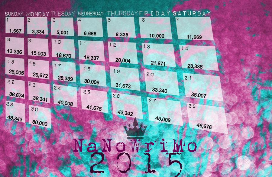 NaNoWriMo 2015 Wordcount Calendar Wallpaper