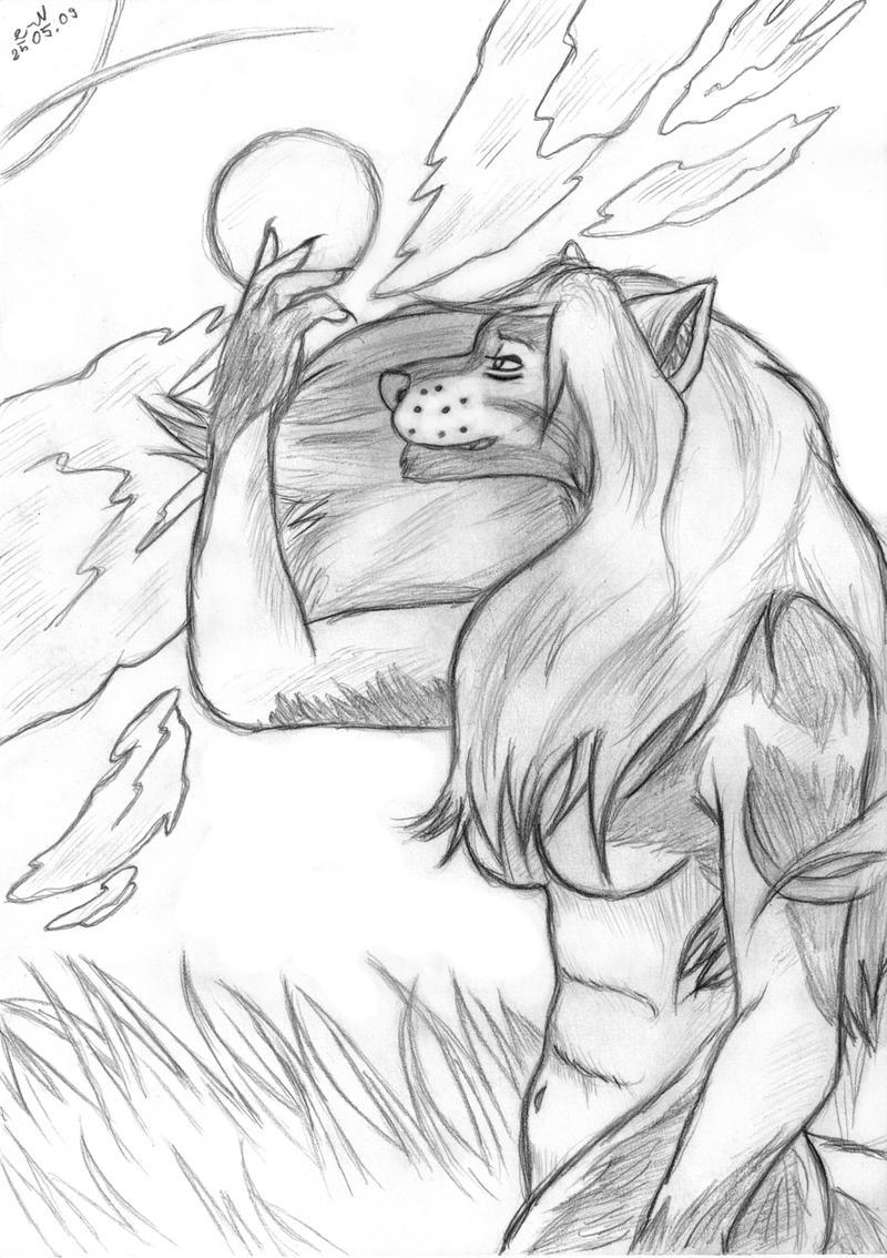 She-Wolf 2 - Sketch By Lion-Neverkilled On DeviantArt