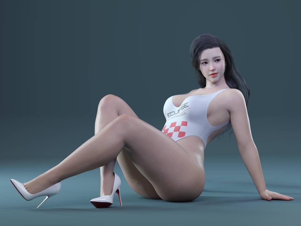 [TheBlackAlley] Vivienne Set 1 x118   Asiangirl   Nude