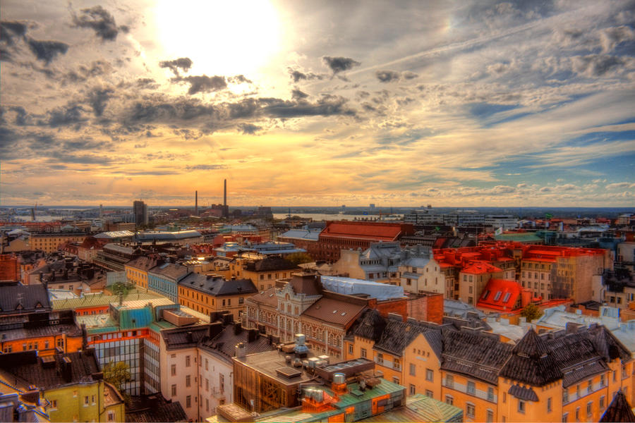Helsinki from Above. by the13wizard