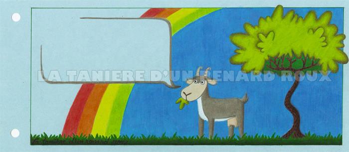 rainbow and goat