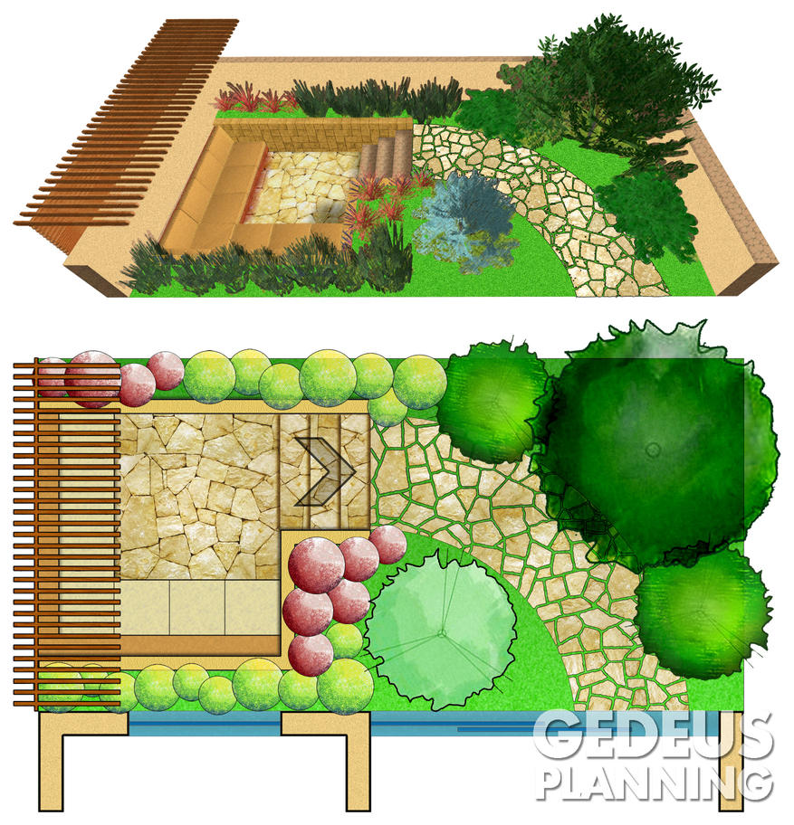 Small garden design by wannad on deviantart for Small house garden design