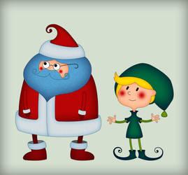 Santa and elf by wannaD