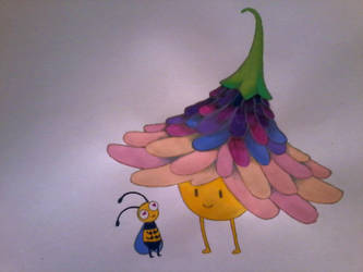 bee and flower by wannaD