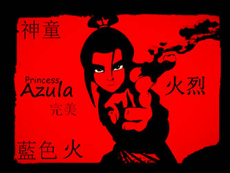 Azula Red Script by Way-Past-Cool