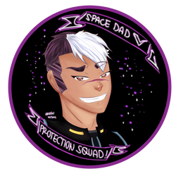 Space Dad Protection Squad Badge