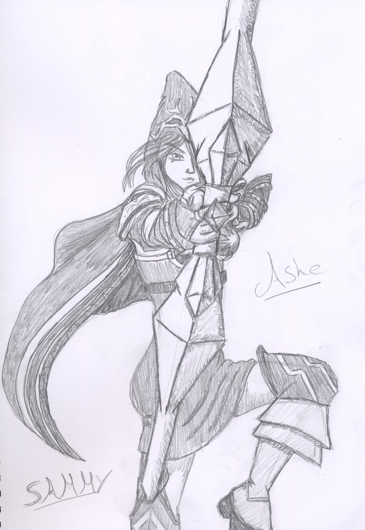 Ashe League Of Legends By Charliek On Deviantart