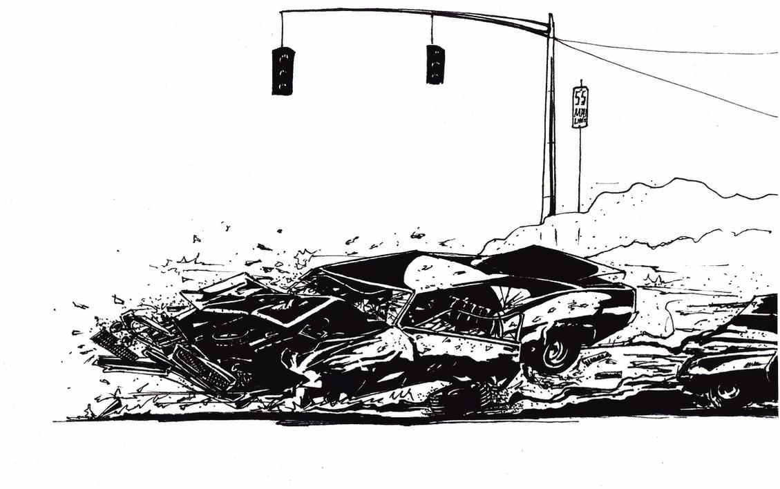 Muscle Car Crash by Dubrik on DeviantArt