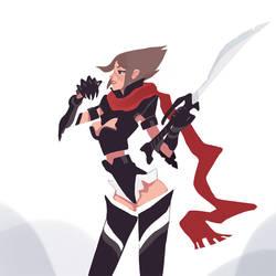 Comm01 - Miss Super-Soldier by larolaro