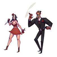 Dent and Rosaline by larolaro