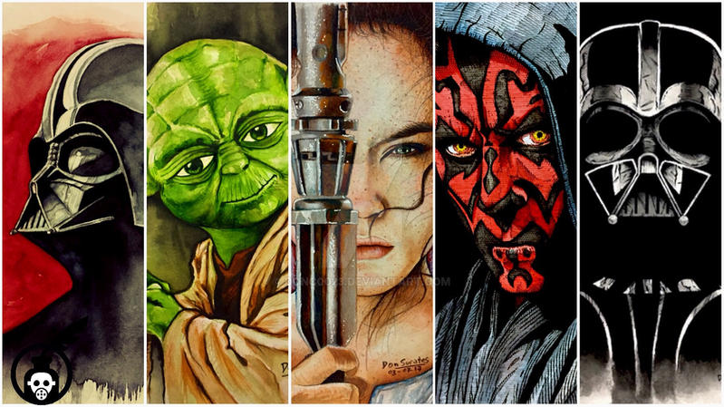 Star Wars Watercolors by donc0023