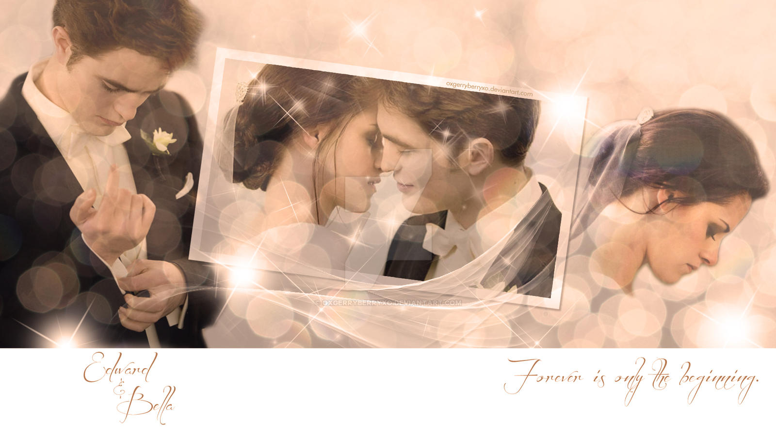 edward and bella wedding kiss v2 by oxgerryberryxo on