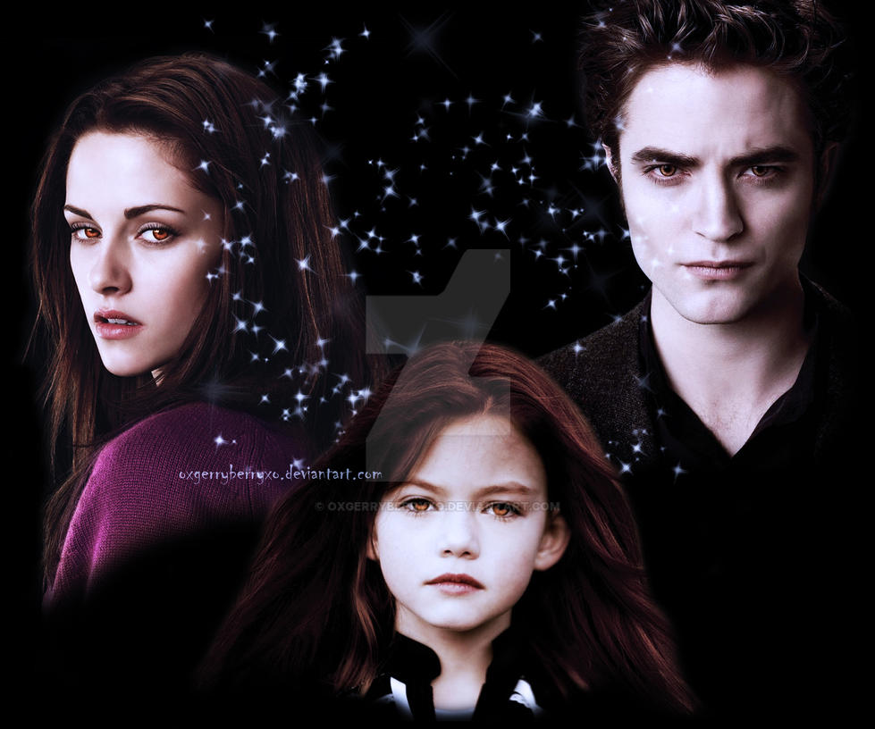Renesmee, Bella and Edward by oXGeRRyBeRRyXo on DeviantArt