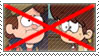 (Request) Anti Dipper Pines x Lynn Loud stamp by nicegirl97