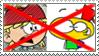 (Request) Anti- Lana x Mugman stamp by nicegirl97