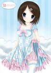 Blue Pink dress